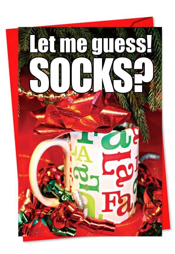 Let Me Guess: Humorous Christmas Printed Greeting Card