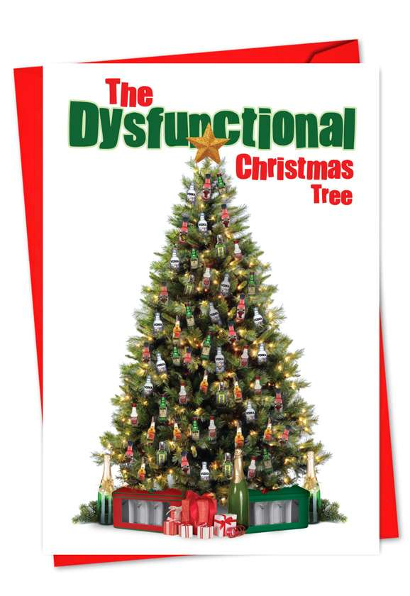 Dysfunctional Xmas Tree: Hysterical Christmas Paper Card