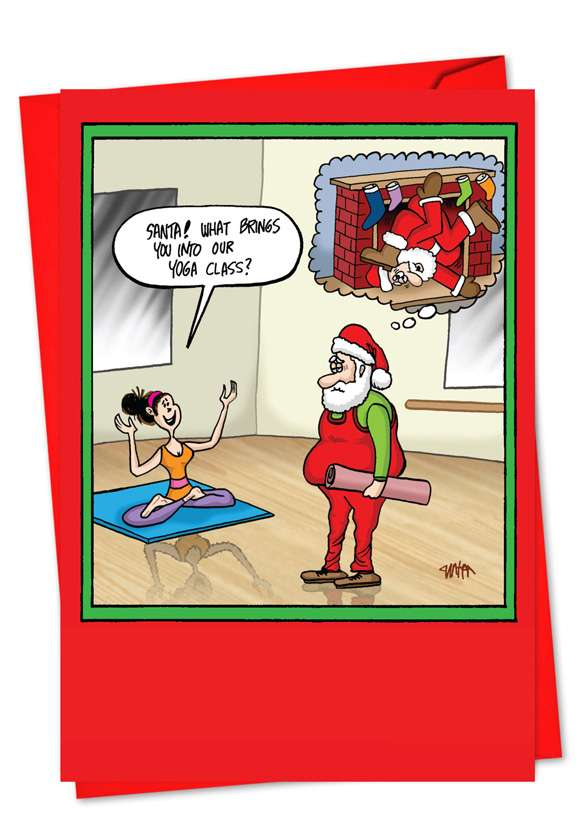 Santa Yoga: Hilarious Christmas Printed Card