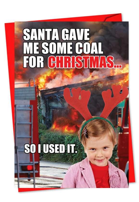 Coal for Christmas: Humorous Christmas Greeting Card