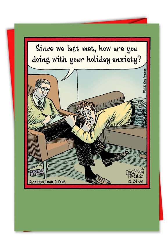 Holiday Anxiety: Funny Christmas Printed Card