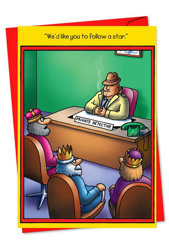 Star Private Detective: Hilarious Christmas Greeting Card