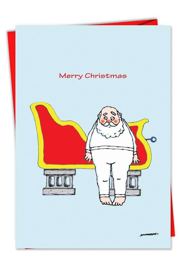 Santa in the Hood: Funny Christmas Printed Greeting Card