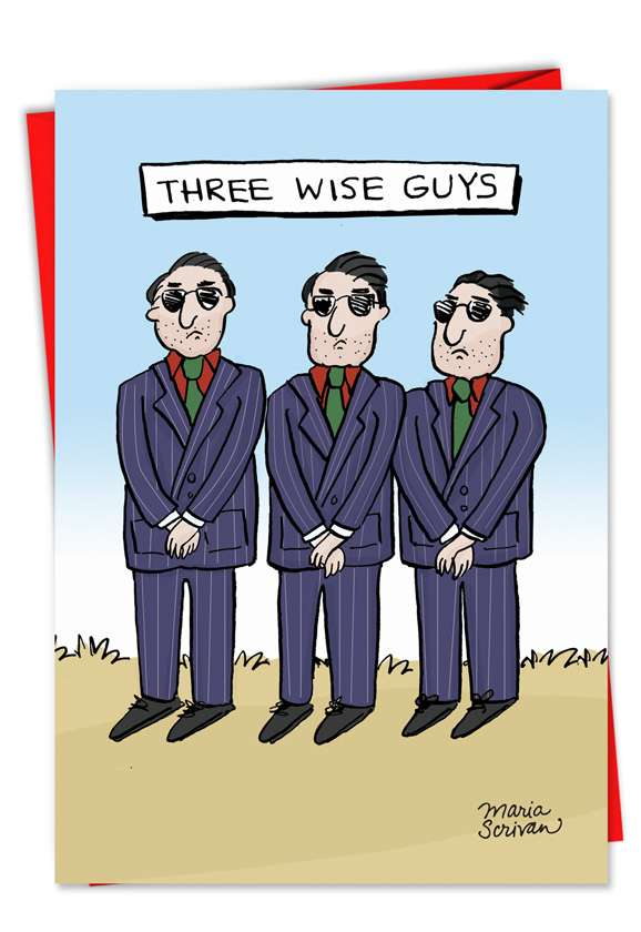 Three Wise Guys: Hilarious Christmas Greeting Card