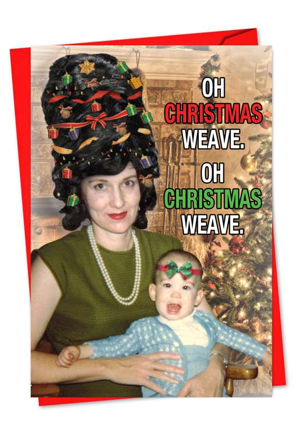Christmas Weave: Hysterical Christmas Paper Greeting Card