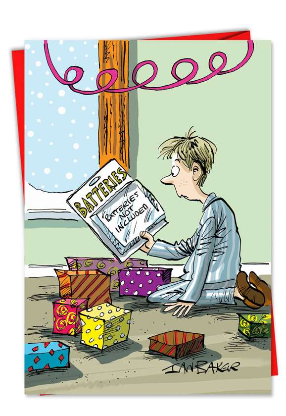 Batteries Not Included: Hysterical Christmas Printed Card