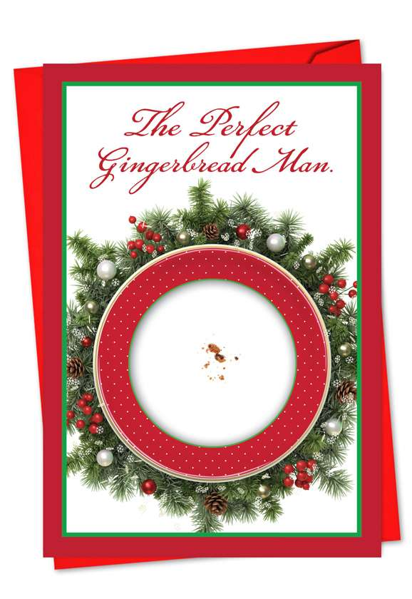 Perfect Ginger Man: Hysterical Christmas Greeting Card