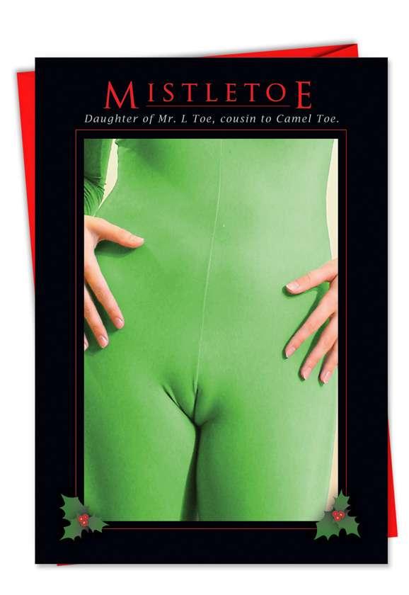 Mistletoe: Hilarious Christmas Printed Card