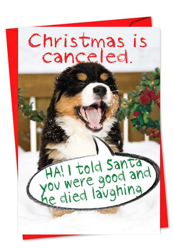 Christmas Is Canceled: Humorous Christmas Greeting Card