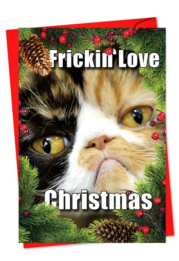 Fricking love Christmas: Hysterical Christmas Printed Card