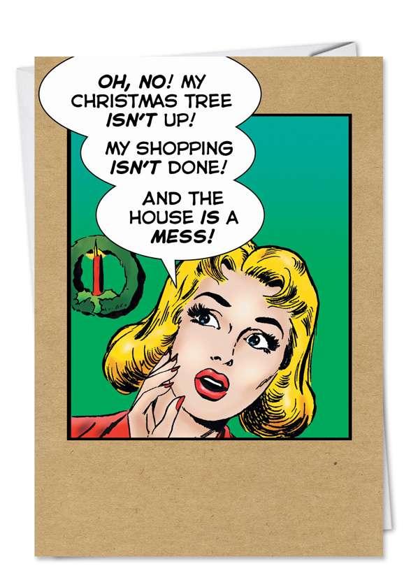 Christmas As Usual: Humorous Christmas Printed Card