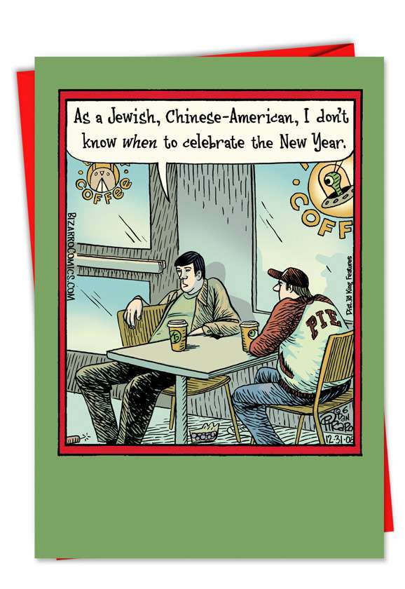 Jewish Chinese American: Hysterical New Year Paper Card