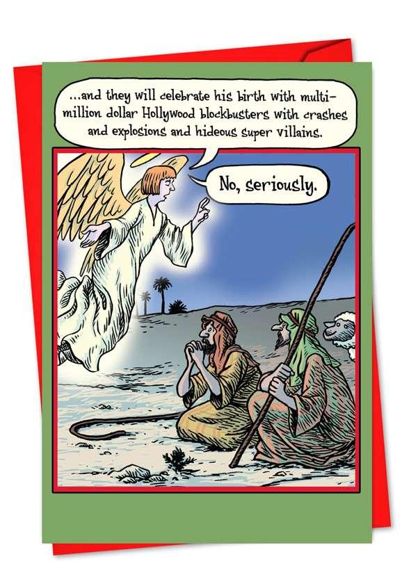 No Seriously: Hilarious Christmas Greeting Card
