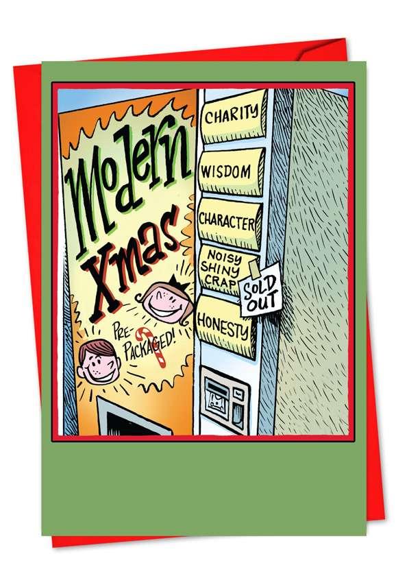 Modern Life: Funny Christmas Printed Greeting Card