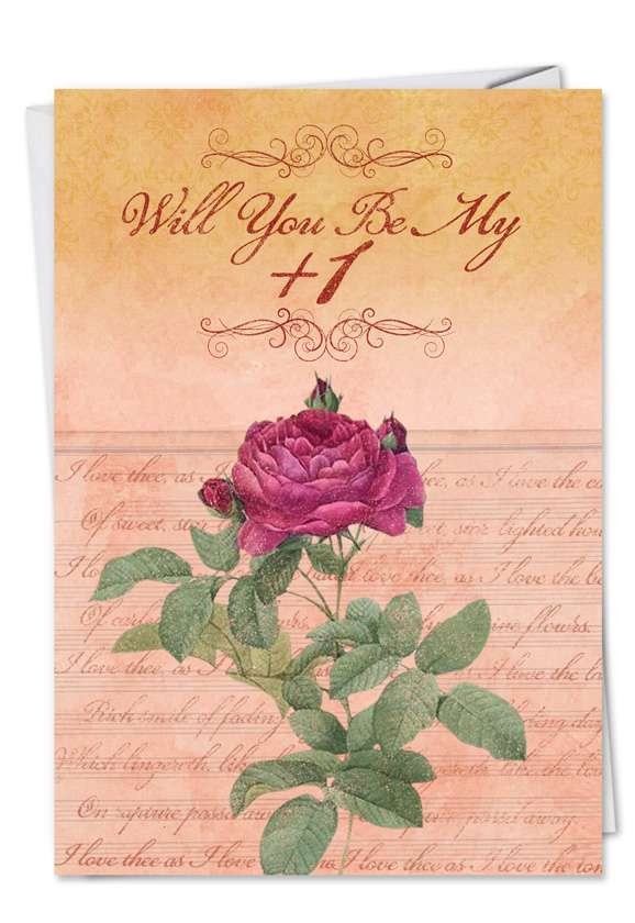 Be My Plus One Blank Card