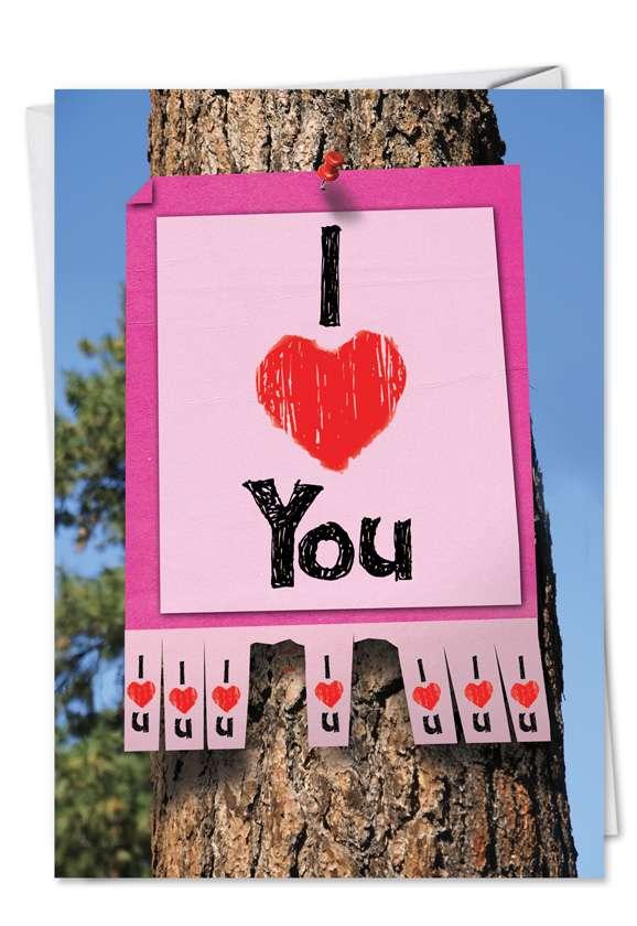 I Love You Sign Blank Card
