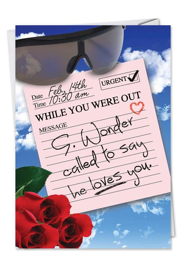Stevie Wonder Called Blank Card