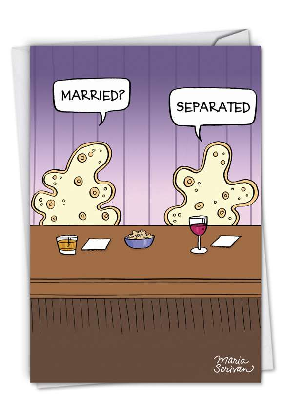 Separated Cells: Humorous Valentine's Day Printed Card
