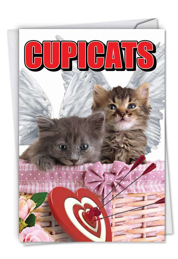 Cupicats: Hysterical Valentine's Day Printed Card