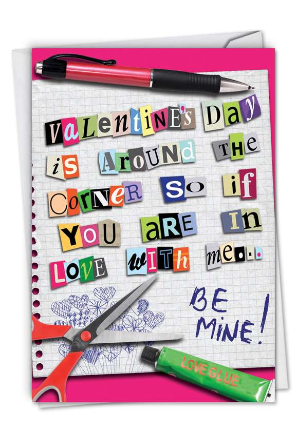 Time to Speak Up: Hilarious Valentine's Day Printed Greeting Card