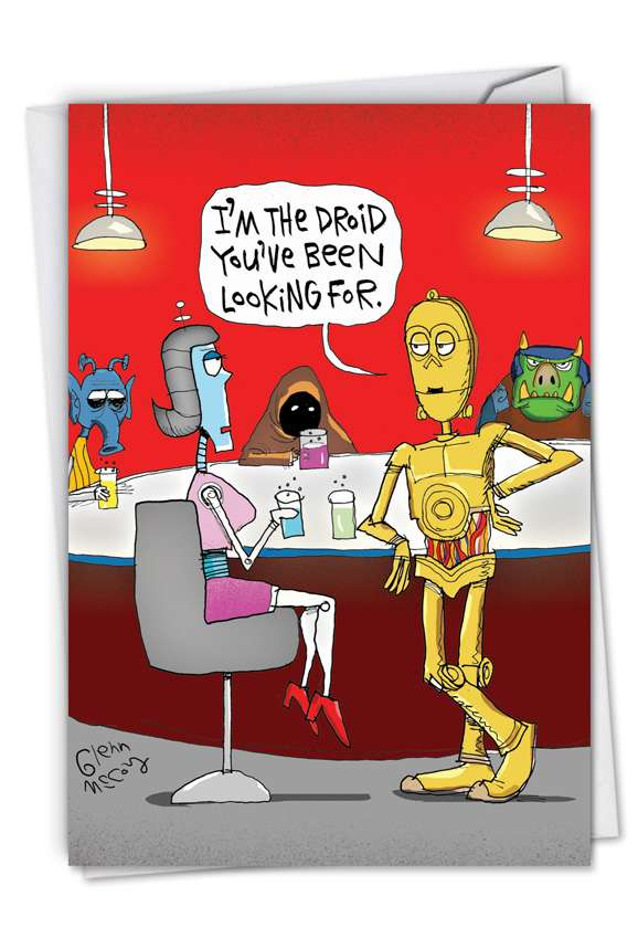 The Droid: Hysterical Valentine's Day Paper Card