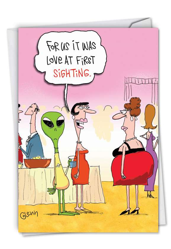 Love At First Sighting: Funny Valentine's Day Greeting Card