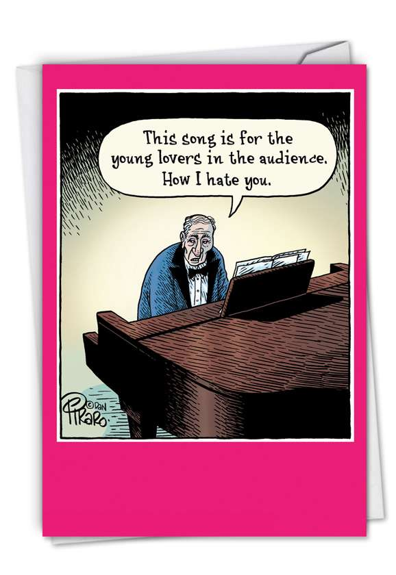 Song For Young Lovers: Hilarious Valentine's Day Paper Card