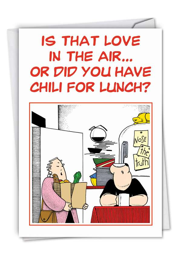 Chili for Lunch: Funny Valentine's Day Printed Card