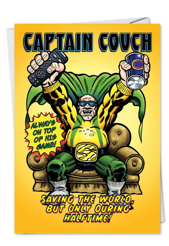 Captain Couch: Hysterical Father's Day Paper Card
