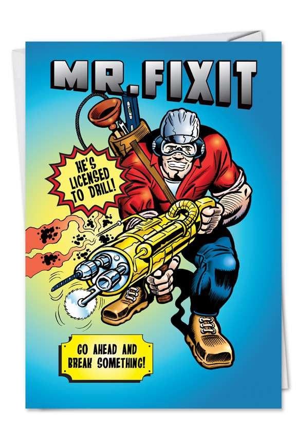 Mr. FixIt: Funny Father's Day Greeting Card