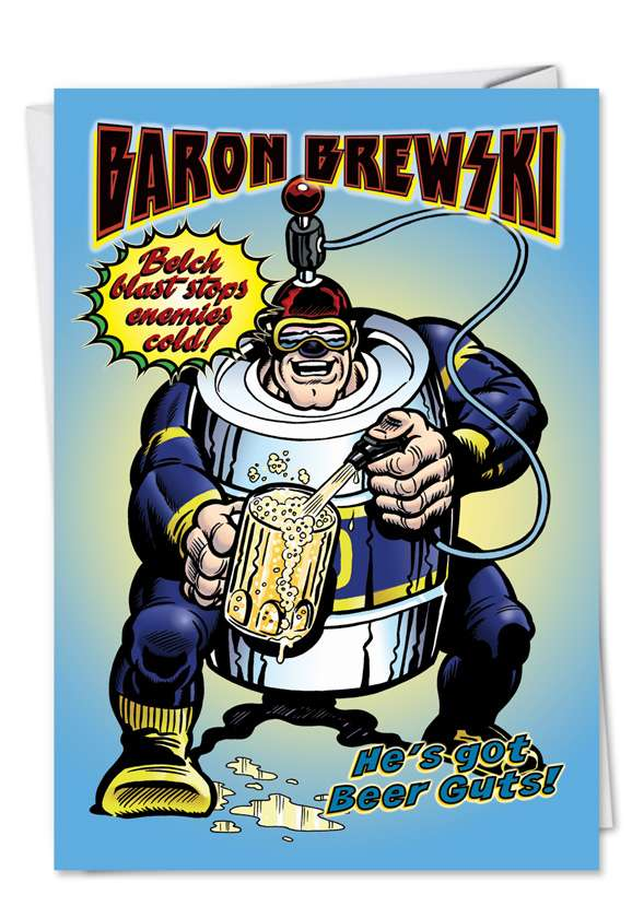 Baron Brewsky: Funny Graduation Paper Card
