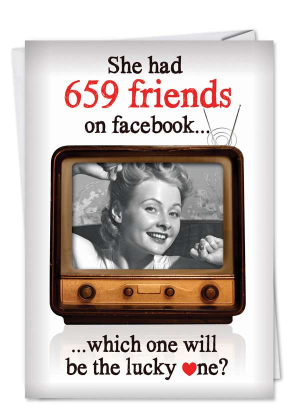 Facebook Friends: Hysterical Valentine's Day Paper Card