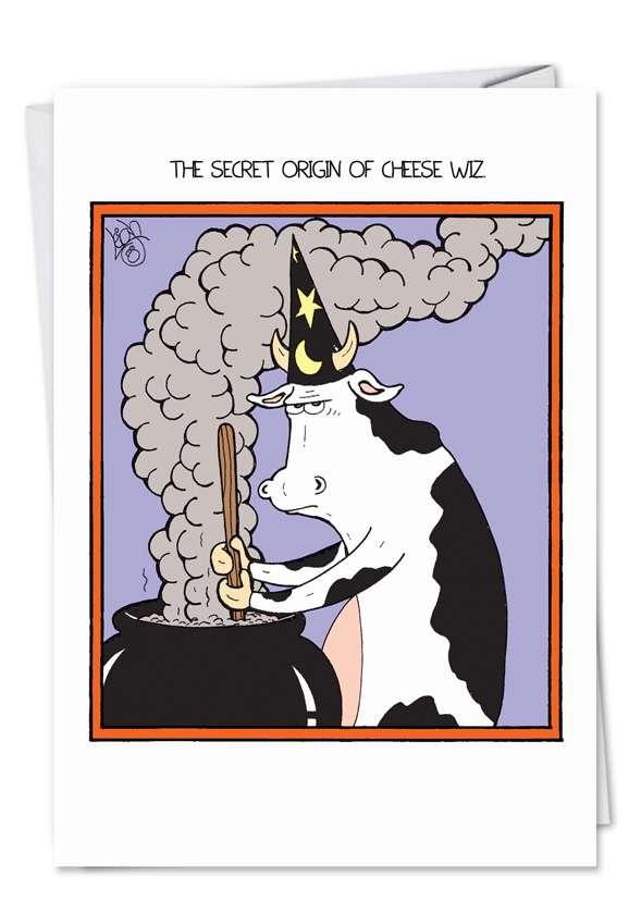 Cheese Wiz: Funny Halloween Printed Card