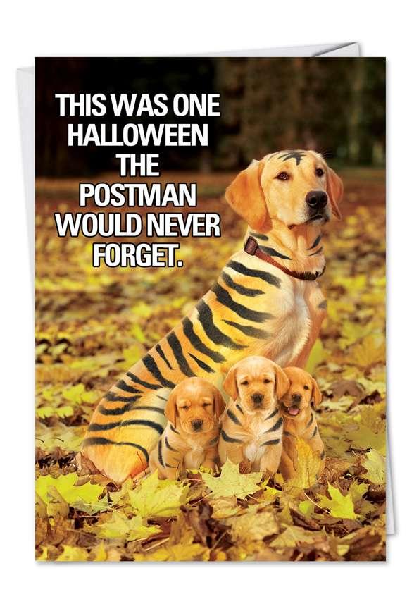 Tiger Mom: Humorous Halloween Printed Card