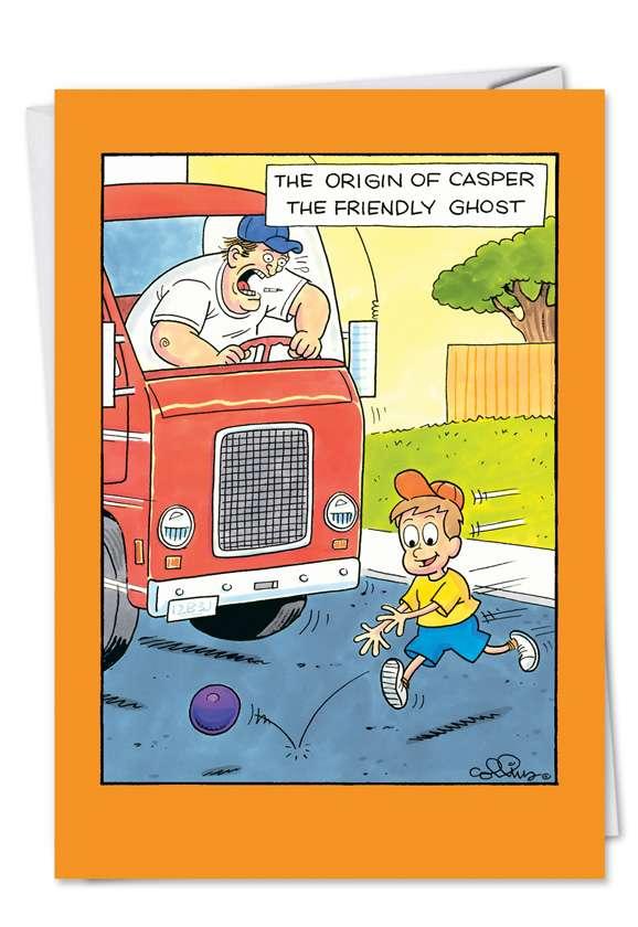 Origin Of Casper: Humorous Halloween Paper Greeting Card