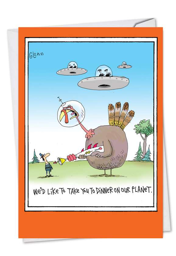 Take You To Dinner: Hysterical Thanksgiving Printed Greeting Card