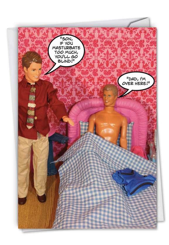 Wanker: Funny Blank Printed Greeting Card