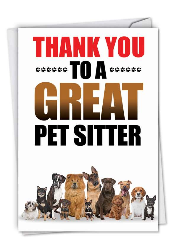 Thank You to a Great Pet Sitter Card