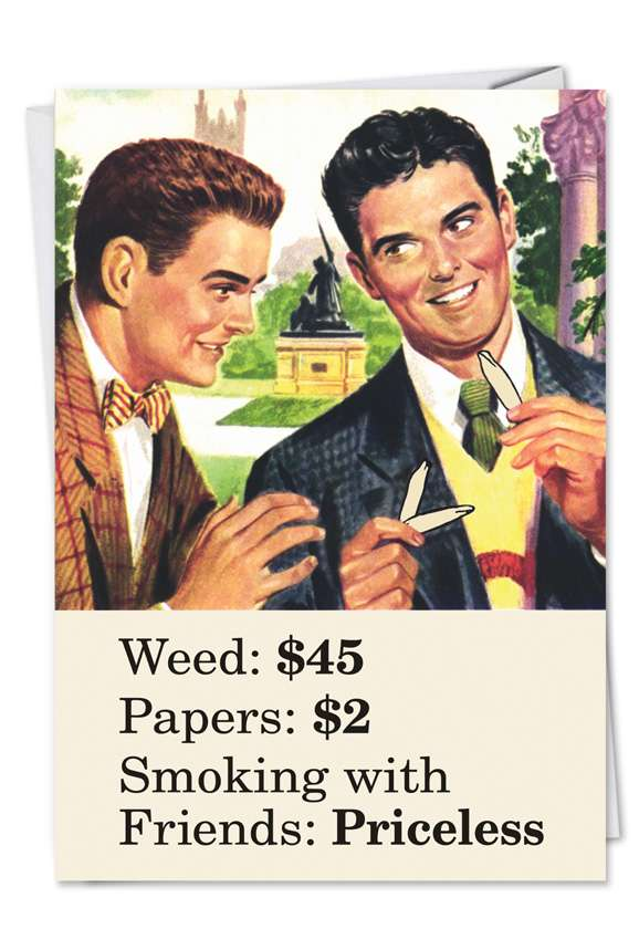 Smoking With Friends: Hysterical Graduation Paper Greeting Card