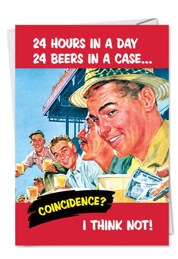 24 Beers: Hysterical Graduation Greeting Card