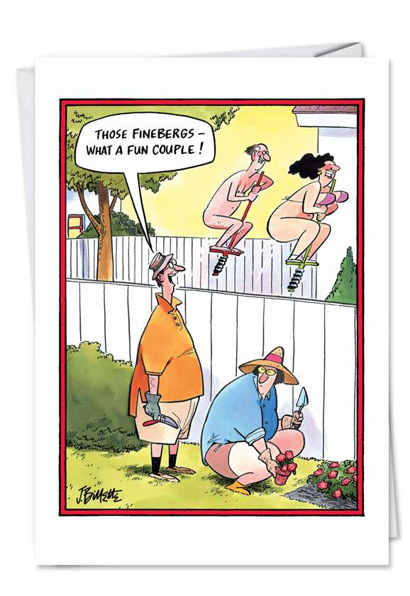 Fun Couple: Humorous Anniversary Greeting Card