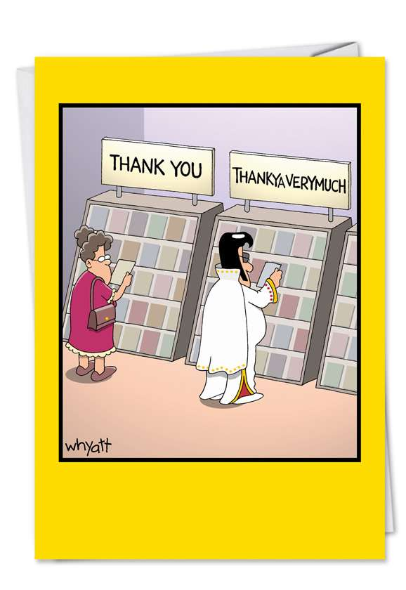 ThankYa: Humorous Thank You Paper Card