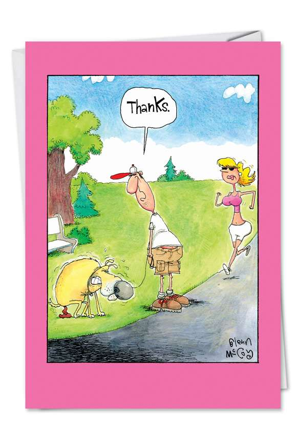 Thanks Dog: Funny Thank You Printed Card