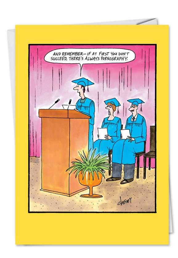 Always Porn: Hilarious Graduation Paper Card