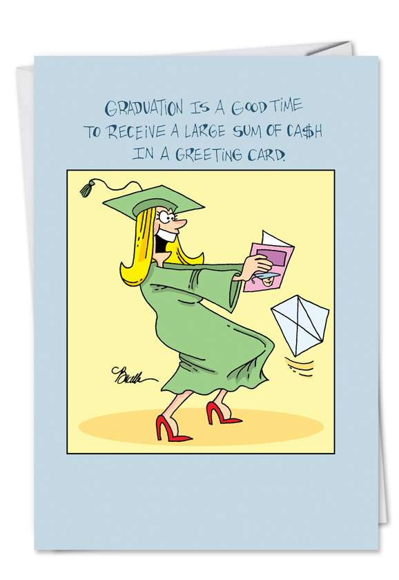 Hysterical Graduation Greeting Card by Martin Bucella from NobleWorksCards.com - Disappointment