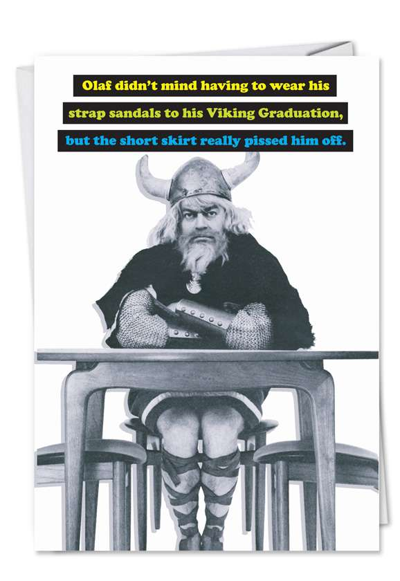 Viking Graduation: Funny Graduation Printed Card