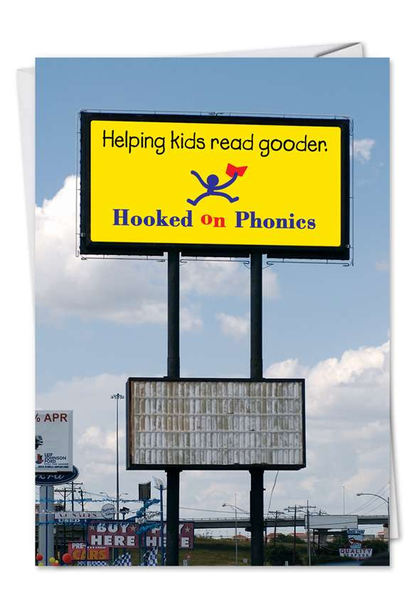 Phonics: Hysterical Graduation Paper Greeting Card