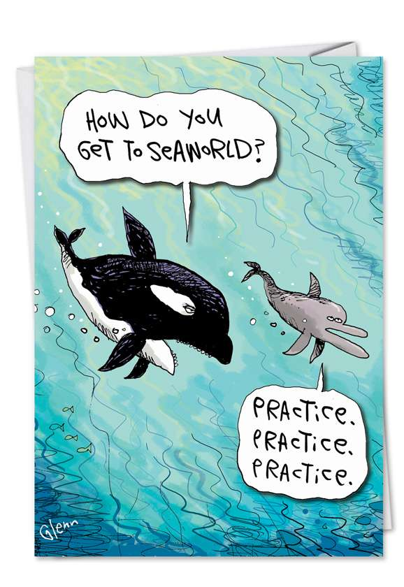SeaWorld: Hilarious Graduation Printed Greeting Card
