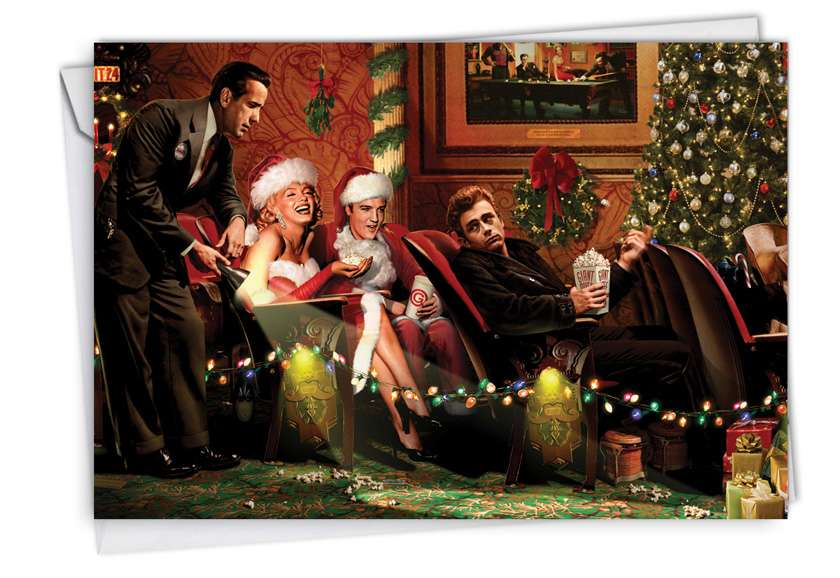 Popcorn Stars: Hilarious Christmas Paper Greeting Card