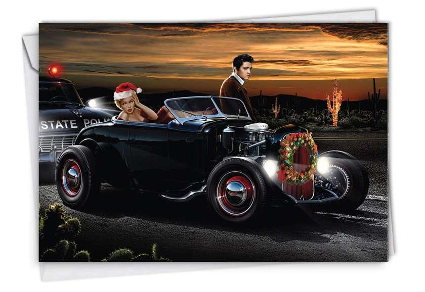 Christmas Joy: Humorous Christmas Printed Greeting Card
